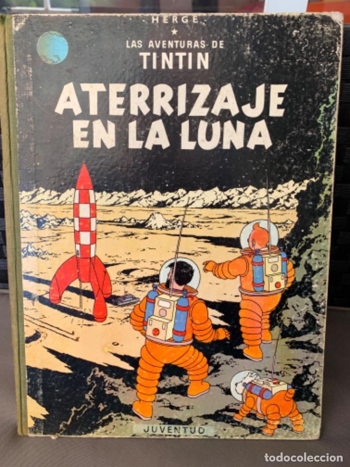 TINTIN ATERRIZAJE EN LA LUNA , HERGÉ ED. JUVENTUD 5ª EDICION 1970 (Tebeos y Comics - Juventud - Tintín)
