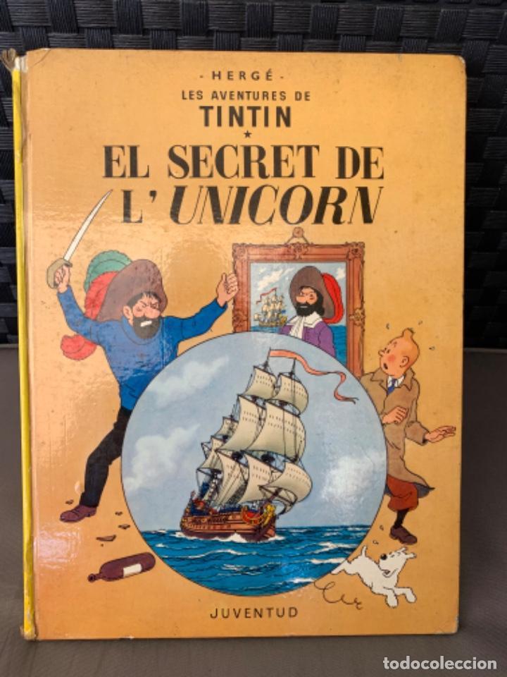 TINTIN EL SECRET DE L´UNICORN , HERGÉ ED. JUVENTUD 3ª EDICION 1977 EN CATALAN (Tebeos y Comics - Juventud - Tintín)