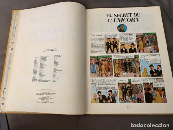 Cómics: TINTIN EL SECRET DE L´UNICORN , HERGÉ ED. JUVENTUD 3ª EDICION 1977 EN CATALAN - Foto 2 - 216592565