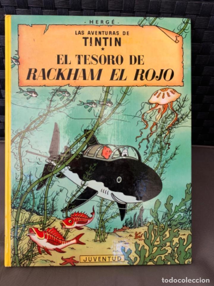 TINTIN EL TESORO DE RACKHAM EL ROJO , HERGÉ ED. JUVENTUD 12ª EDICION 1988 (Tebeos y Comics - Juventud - Tintín)