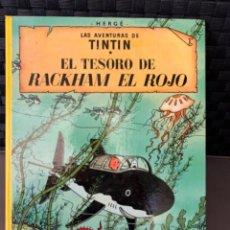 Cómics: TINTIN EL TESORO DE RACKHAM EL ROJO , HERGÉ ED. JUVENTUD 12ª EDICION 1988. Lote 216593530