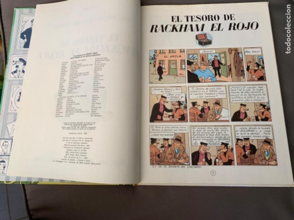 Cómics: TINTIN EL TESORO DE RACKHAM EL ROJO , HERGÉ ED. JUVENTUD 12ª EDICION 1988 - Foto 2 - 216593530