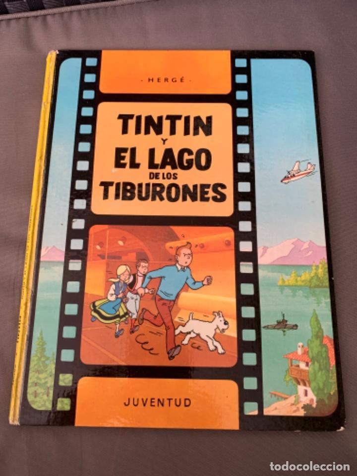 TINTIN Y EL LAGO DE LOS TIBURONES , HERGÉ ED. JUVENTUD 12ª EDICION 1995 (Tebeos y Comics - Juventud - Tintín)