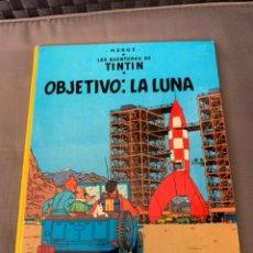 Cómics: TINTIN OBJETIVO: LA LUNA , HERGÉ ED. JUVENTUD EDICION 1989. Lote 216595278