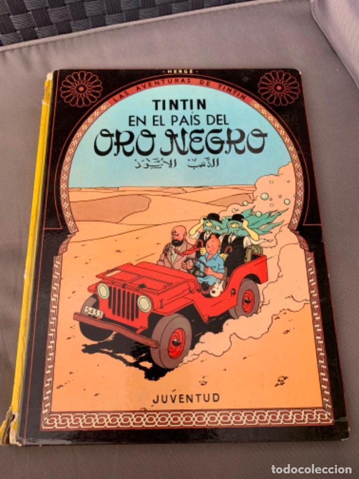 TINTIN EN EL PAIS DEL ORO NEGRO, HERGÉ ED. JUVENTUD 5ª EDICION 1976 (Tebeos y Comics - Juventud - Tintín)