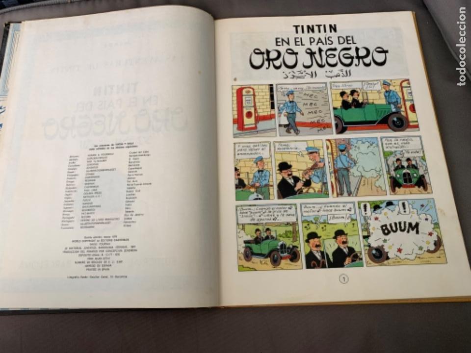 Cómics: TINTIN EN EL PAIS DEL ORO NEGRO, HERGÉ ED. JUVENTUD 5ª EDICION 1976 - Foto 2 - 216595780