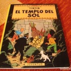 Cómics: LAS AVENTURAS DE TINTIN EL TEMPLO DEL SOL NOVENA ED. HERGÉ 1986. Lote 216685155