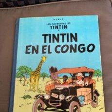 Cómics: TINTIN EN EL CONGO, PRIMERA EDICION DE 1968 EDITORIAL JUVENTUD. Lote 216699780