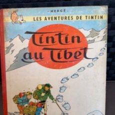 Cómics: TINTIN LES AVENTURES DE TINTIN AU TIBET EDITORIAL CASTERMAN 1960 HERGÉ FRANCES PRIMERA EDICION. Lote 216701211