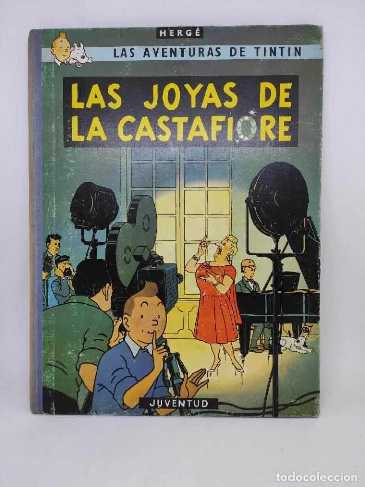 TINTIN. LAS JOYAS DE LA CASTAFIORE. PRIMERA EDICION 1964. LOMO DE TELA. (Tebeos y Comics - Juventud - Tintín)