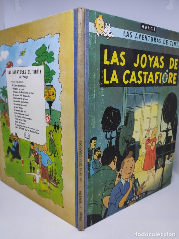 Cómics: TINTIN. LAS JOYAS DE LA CASTAFIORE. PRIMERA edicion 1964. lomo de tela. - Foto 3 - 216904430
