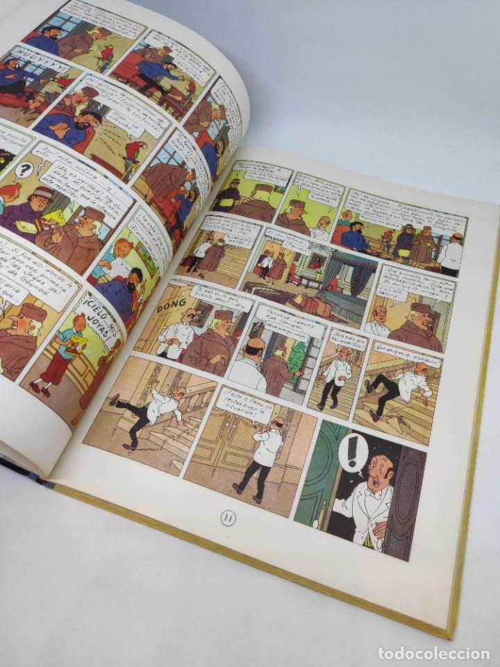 Cómics: TINTIN. LAS JOYAS DE LA CASTAFIORE. PRIMERA edicion 1964. lomo de tela. - Foto 5 - 216904430