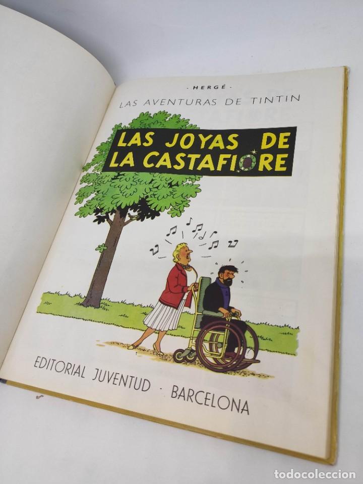 Cómics: TINTIN. LAS JOYAS DE LA CASTAFIORE. PRIMERA edicion 1964. lomo de tela. - Foto 6 - 216904430
