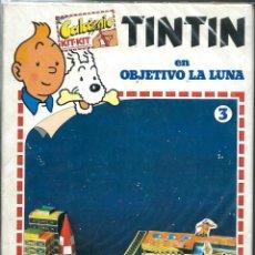 Cómics: TINTIN EN OBJETIVO LA LUNA - CALCOMICS KIT-KIT Nº 3 - JOKER 1982 - VER DESCRIPCION. Lote 217204958