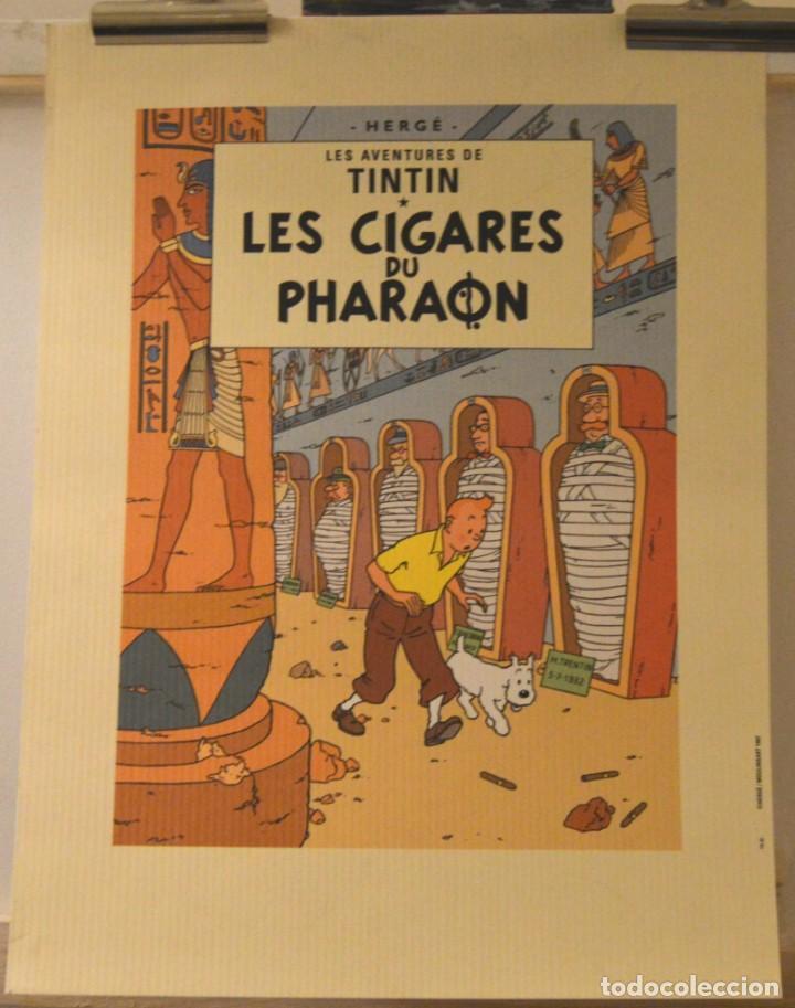 CARTEL LES CIGARES DE PHARAON - HERGÉ 1997 - MOULINSART Nº 1669 - LITOGRAFÍA (Tebeos y Comics - Juventud - Tintín)