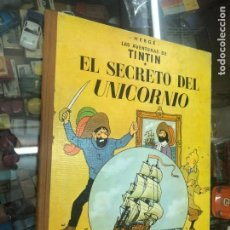 Cómics: TINTIN EL SECRETO EL UNICORNIO 3ª EDICION 1965 EDITORIAL JUVENTUD LOMO TELA. Lote 217249697