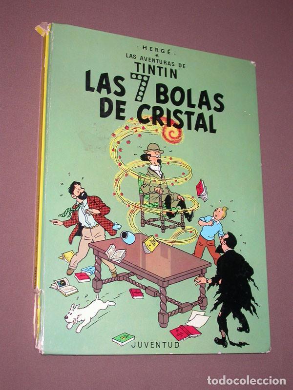 LAS AVENTURAS DE TINTIN: LAS 7 BOLAS DE CRISTAL. HERGE. EDITORIAL JUVENTUD, 9ª EDICIÓN, 1985 (Tebeos y Comics - Juventud - Tintín)