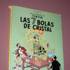 Cómics: LAS AVENTURAS DE TINTIN: LAS 7 BOLAS DE CRISTAL. HERGE. EDITORIAL JUVENTUD, 9ª EDICIÓN, 1985. Lote 217368210
