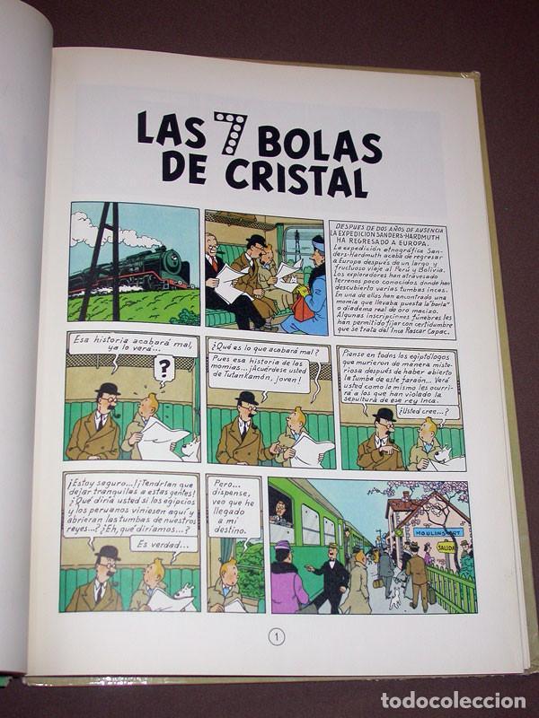 Cómics: LAS AVENTURAS DE TINTIN: LAS 7 BOLAS DE CRISTAL. HERGE. EDITORIAL JUVENTUD, 9ª EDICIÓN, 1985 - Foto 5 - 217368210