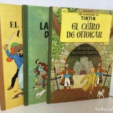 Cómics: TINTÍN JUVENTUD LOTE 3 LIBROS EL SECRETO DEL UNICORNIO,EL CETRO DE OTTOKAR Y LAS 7 BOLAS DE CRISTAL,. Lote 217641437