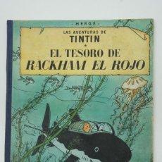 Cómics: LAS AVENTURAS DE TINTIN EL TESORO DE RACKHAM EL ROJO , 1º EDICIÓN MARZO 1960.. Lote 217799735