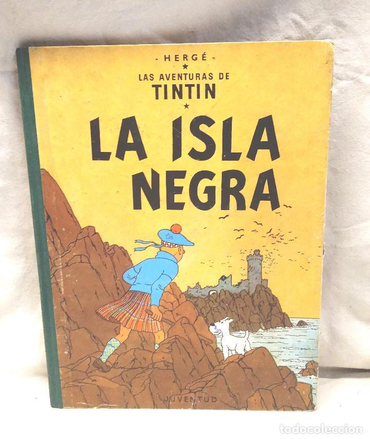 LA ISLA NEGRA AÑO 1961 PRIMERA EDICIÓN EDITORIAL JUVENTUD (Tebeos y Comics - Juventud - Tintín)