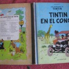 Comics : TINTIN. TINTIN EN EL CONGO. JUVENTUD 1ª EDICION DICIEMBRE DE 1968. Lote 218531952