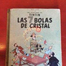 Cómics: LAS AVENTURAS DE TINTIN- LAS 7 BOLAS DE CRISTAL, JUVENTUD- 2° EDICIÓN, 1967.. Lote 218604785