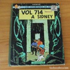 Cómics: TINTIN VOL 714 A SIDNEY, HERGE. JUVENTUD PRIMERA EDICION 1969 1ª CATALA. Lote 218667306