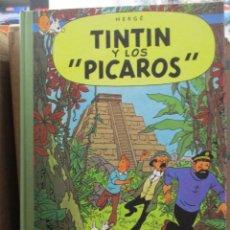 Cómics: LAS AVENTURAS DE TINTIN - TINTIN Y LOS PICAROS - LOMO DE TELA - RARISMO - MUY BUEN ESTADO. Lote 218812380