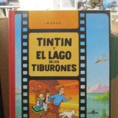 Cómics: LAS AVENTURAS DE TINTIN - EL LAGO DE LOS TIBURONES - RARISIMO - LOMO DE TELA - MUY BUEN ESTADO. Lote 218812523