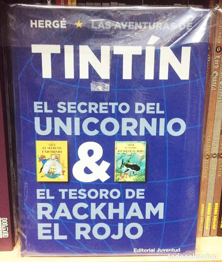 EL SECRETO DEL UNICORNIO & EL TESORO DE RACKHAM EL ROJO (ÁLBUM DOBLE). HERGE. EDITORIAL JUVENTUD (Tebeos y Comics - Juventud - Tintín)