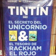 Cómics: EL SECRETO DEL UNICORNIO & EL TESORO DE RACKHAM EL ROJO (ÁLBUM DOBLE). HERGE. EDITORIAL JUVENTUD. Lote 218999248