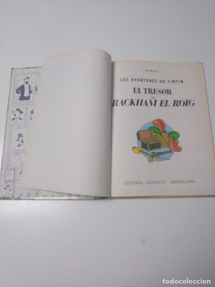 Cómics: Tintín El Tresor de Rackham el Rojo Tapa Dura Editorial Joventut Setena Edición 1984 - Foto 4 - 219647806