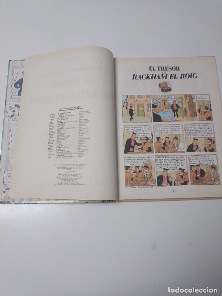 Cómics: Tintín El Tresor de Rackham el Rojo Tapa Dura Editorial Joventut Setena Edición 1984 - Foto 5 - 219647806