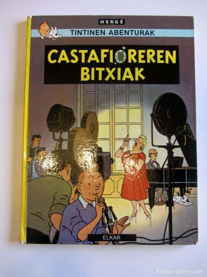 CASTAFIOREREN BITXIAK. TINTINEN ABENTURAK. HERGÉ SEGUNDA EDICIÓN 1988 TINTIN EN EUSKERA VASCO. ELKAR (Tebeos y Comics - Juventud - Tintín)