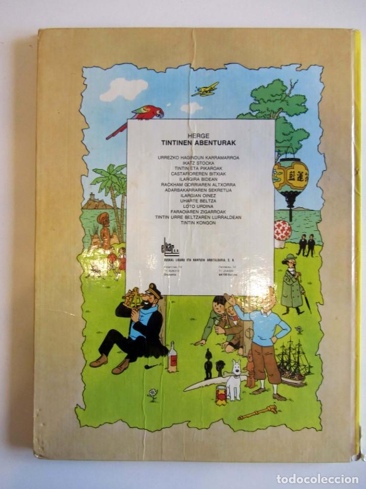 Cómics: Castafioreren bitxiak. Tintinen abenturak. Hergé Segunda edición 1988 Tintin en euskera vasco. Elkar - Foto 4 - 220073071