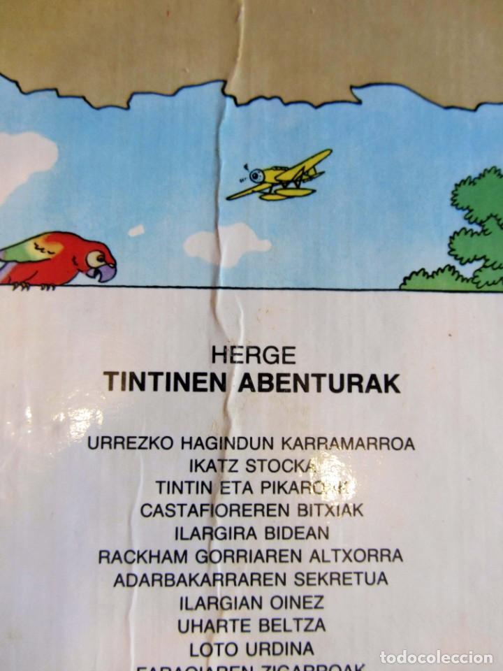 Cómics: Castafioreren bitxiak. Tintinen abenturak. Hergé Segunda edición 1988 Tintin en euskera vasco. Elkar - Foto 5 - 220073071