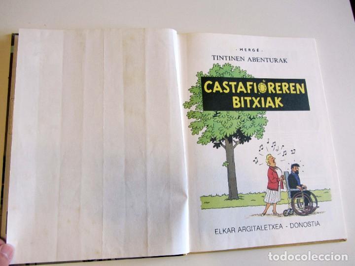 Cómics: Castafioreren bitxiak. Tintinen abenturak. Hergé Segunda edición 1988 Tintin en euskera vasco. Elkar - Foto 7 - 220073071