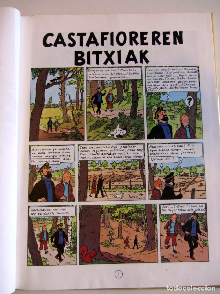 Cómics: Castafioreren bitxiak. Tintinen abenturak. Hergé Segunda edición 1988 Tintin en euskera vasco. Elkar - Foto 9 - 220073071