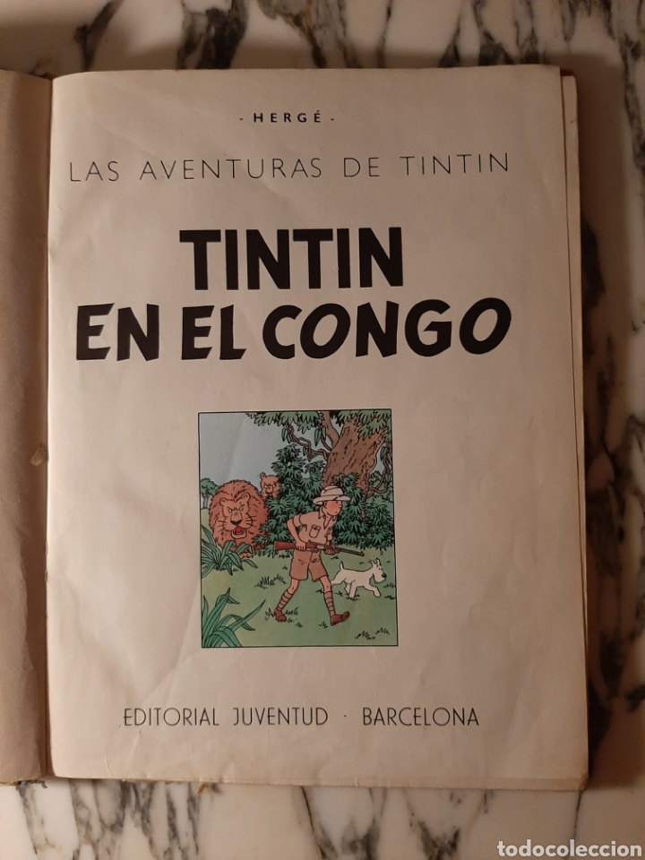 Cómics: TINTÍN EN EL CONGO - HERGÉ - JUVENTUD - PRIMERA EDICIÓN - 1968 - Foto 2 - 220302492