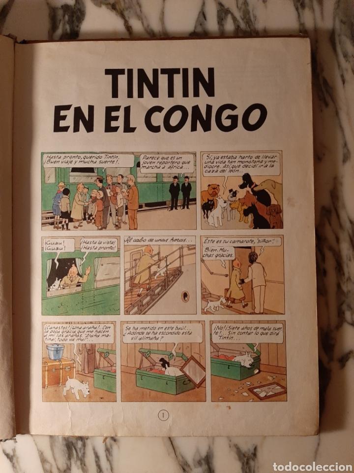 Cómics: TINTÍN EN EL CONGO - HERGÉ - JUVENTUD - PRIMERA EDICIÓN - 1968 - Foto 4 - 220302492