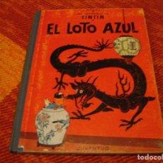 Cómics: LAS AVENTURAS DE TINTÍN EL LOTO AZÚL JUVENTUD HERGÉ PRIMERA EDICIÓN 1965 LLO. Lote 220388966