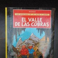 Comics : JO, ZETTE Y JOCKO Nº 5 EL VALLE DE LAS COBRAS EDITORIAL JUVENTUD RUSTICA. Lote 220530435
