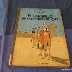 Cómics: TINTIN ACEPTABLE CON CIERTAS MANCHAS DE OXIDO EL CANGREJO DE LAS PINZAS...1968 3 A ED. Lote 221359751