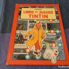 Comics : TINTIN HERGE LIBRO DE JUEGOS DE TINTIN 1988 EN CASTELLANO ESTADO CORRECTO. Lote 221360692