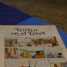 Cómics: TINTIN EN EL TIBET, EDICIION 1965, PORTADA PLASTIFICADA, DESGASTE, PAGINAS CORTESIA ALGUN PINTADO. Lote 221381531