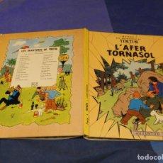 Cómics: TINTIN I L AFER EN TORNASOL SEGUNDA EDICION CATALAN 1977 MUY BUEN ESTADO. Lote 221382432