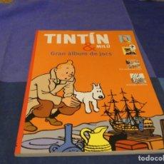 Cómics: TINTIN GRAN ALBUM JOCS EN CATALAN 2011. Lote 221382767