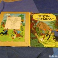 Cómics: TINTIN Y LOS PICAROS PRIMERA EDICION 1976 PCO DEL LOMO DETERIORADO. Lote 221382940